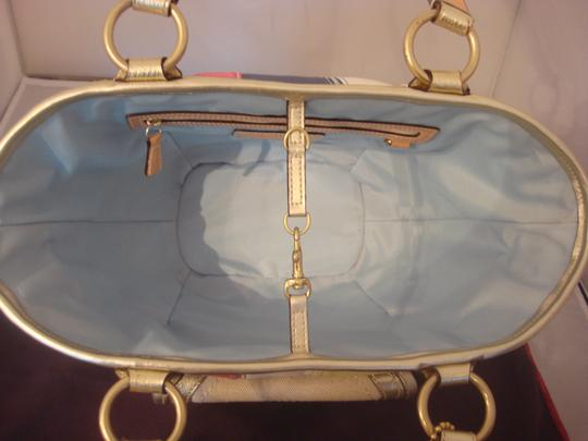 Coach Tag Tote in NATURAL AND MULTI Image 5