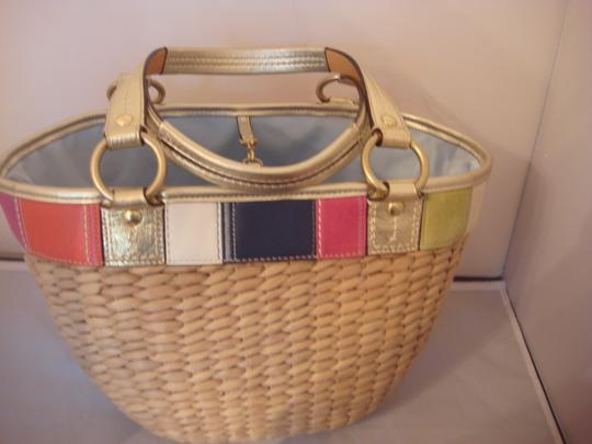 Coach Tag Tote in NATURAL AND MULTI Image 6