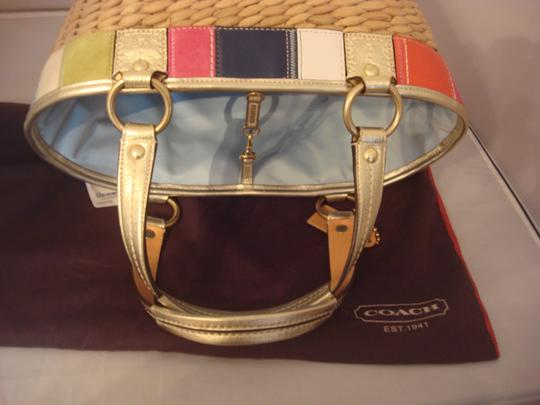 Coach Tag Tote in NATURAL AND MULTI Image 7