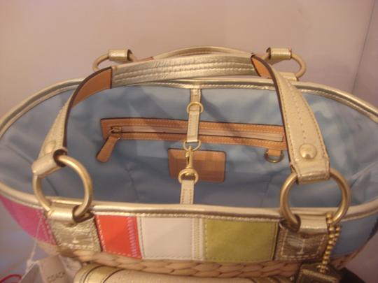 Coach Tag Tote in NATURAL AND MULTI Image 8