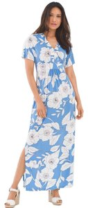 white and blue Maxi Dress by London Times
