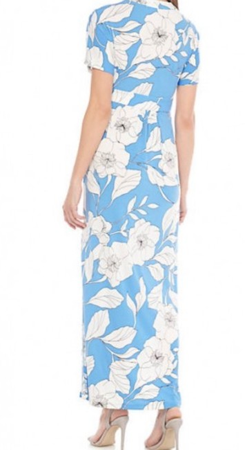 white and blue Maxi Dress by London Times Image 2