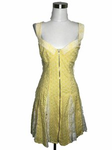 Betsey Johnson short dress Yellow on Tradesy