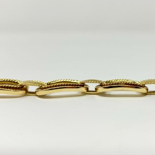 Other 14k Yellow Gold 21.8g Fancy Oval Link Chain Bracelet Italy 7.25 Inches Image 4