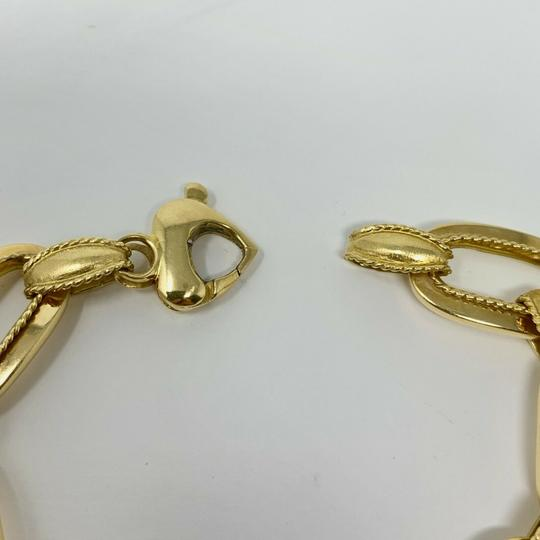 Other 14k Yellow Gold 21.8g Fancy Oval Link Chain Bracelet Italy 7.25 Inches Image 6