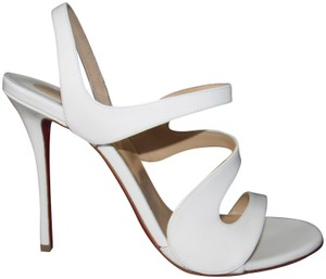 Christian Louboutin Red Soole With Box White Sandals