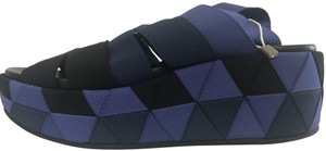 Salvatore Ferragamo Wedge Electtra Knit blue Platforms