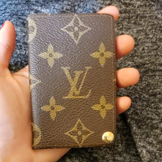 47f2d63ece38 Louis Vuitton Auth Louis Vuitton Monogram Pocket Slim Card Holder Case  Image 0 ...