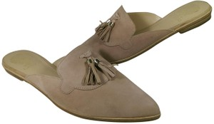 Vince Camuto Leather Suede BEIGE BROWN TAN Mules
