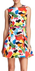 Kate Spade Fit & Flare Pleated & Printed Dress