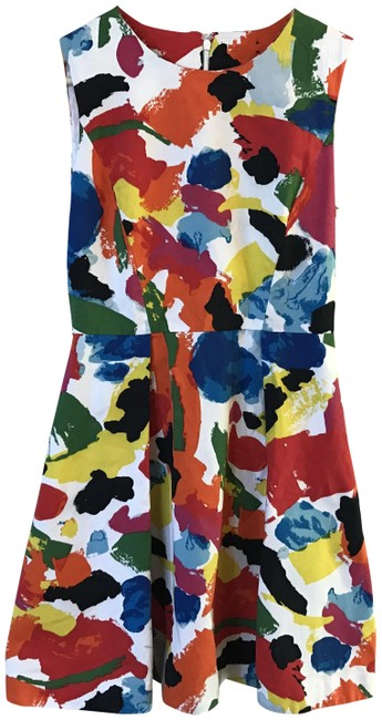 Kate Spade Fit & Flare Pleated & Printed Dress Image 1