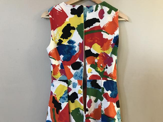Kate Spade Fit & Flare Pleated & Printed Dress Image 3