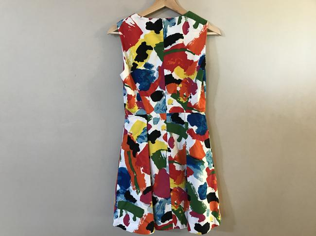 Kate Spade Fit & Flare Pleated & Printed Dress Image 6