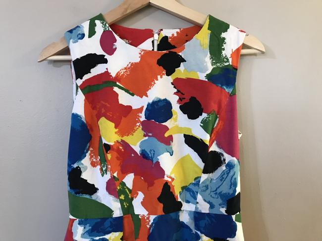 Kate Spade Fit & Flare Pleated & Printed Dress Image 7