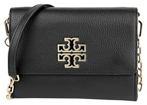 Tory Burch Leather Wallet Chain Cross Body Bag