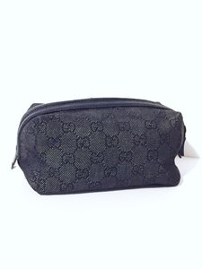 Gucci Gucci monogram canvas cosmetic case black