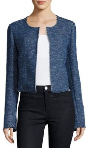 Theory Tweed Indigo Blazer