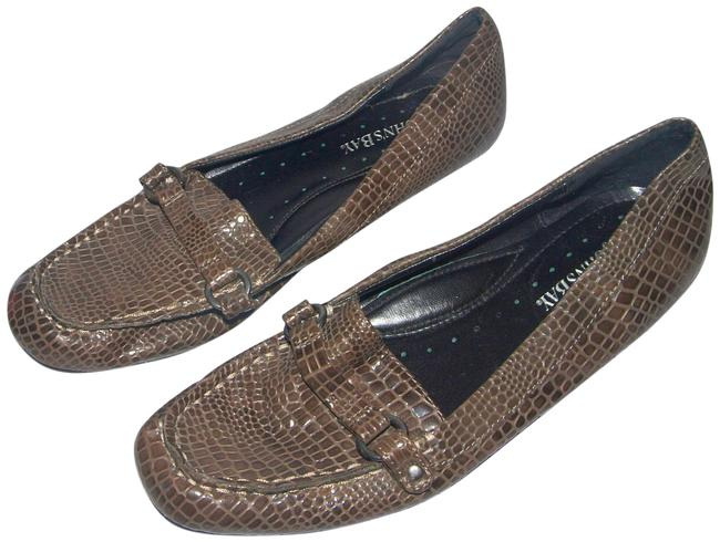 Item - Gray Alligator Loafers Faux Leather Patent Style Flats Size US 7.5 Regular (M, B)