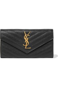 Saint Laurent Saint Laurent Monogram Large Flap Black Leather Wallet