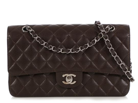 Preload https://img-static.tradesy.com/item/25323671/chanel-double-flap-classic-medium-large-quilted-caviar-dark-brown-leather-shoulder-bag-0-0-540-540.jpg