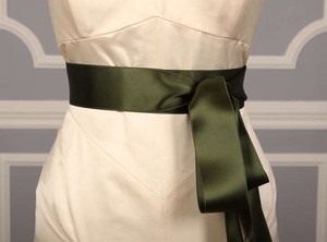 Fern Green Ribbon Sash 2