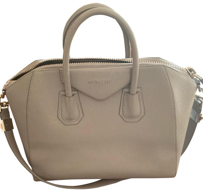Item - Antagona Medium Grey Leather Satchel