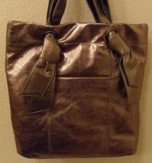 Hype Kaylene Knotted Leather Handbag Tote in Gold