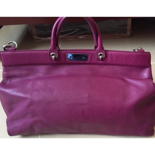 Marc Jacobs Satchel in Fuchsia/Silver Hardware Image 1