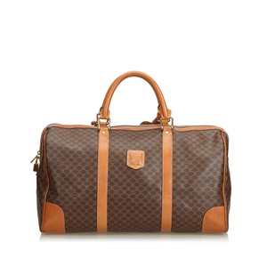 55a030acd26e Céline Boston Macadam Vintage M14 Brown Canvas and Leather Weekend ...