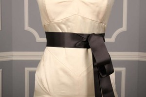 Charcoal Grey Ribbon Sash