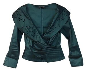KM Collections Evening Top TEAL