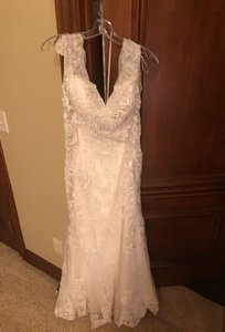 Maggie Sottero Ivory with Silver Accent Vintage Wedding Dress Size 2 (XS)