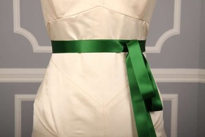 Holiday Green Ribbon Sash