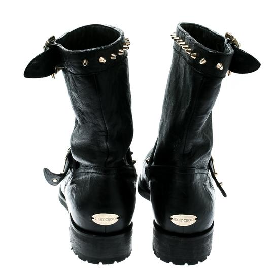 Jimmy Choo Leather Studded Ankle Black Boots Image 4