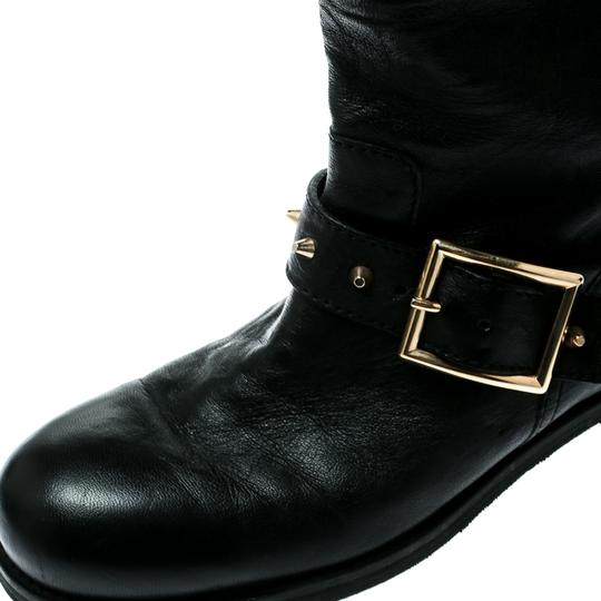 Jimmy Choo Leather Studded Ankle Black Boots Image 6