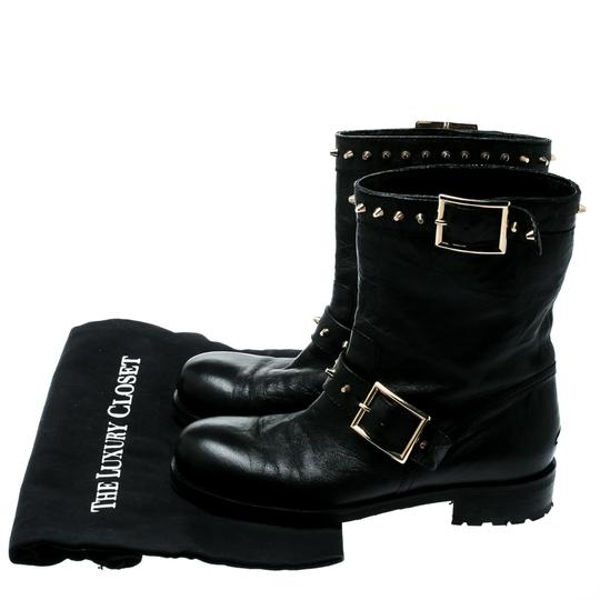 Jimmy Choo Leather Studded Ankle Black Boots Image 7