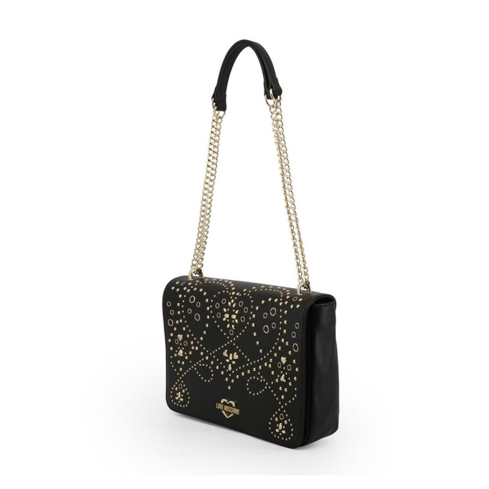 6ca629a9554 Love Moschino Black Faux Leather Shoulder Bag - Tradesy