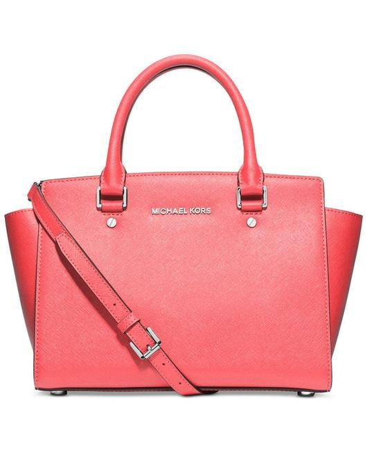 Item - Crossbody Selma Medium Top Zip (New with Tags) Coral Pink/Silver Hardware Saffiano Leather Satchel