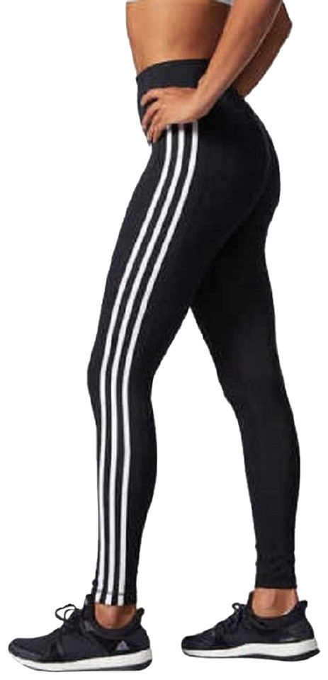 best price quality products lowest discount adidas Black/White Women's Designed 2 Move 3-stripes Tights- Leggings Size  10 (M, 31) 36% off retail