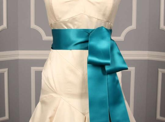 Preload https://item5.tradesy.com/images/deep-turquoise-blue-ribbon-sash-253249-0-0.jpg?width=440&height=440