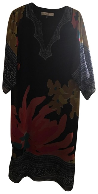 Item - Floral with Navy Blue Summer Mid-length Casual Maxi Dress Size 4 (S)