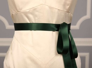 Forest Green Ribbon Sash 1