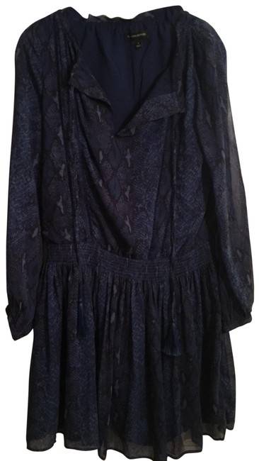 Item - Blue and Black Short Work/Office Dress Size 4 (S)