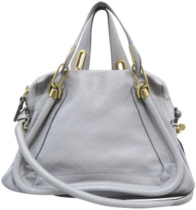 Chloé Paraty Medium Calfskin Satchel in Steelgray