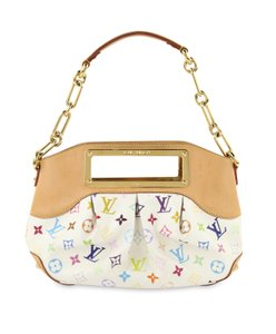 Louis Vuitton Lv Judy Canvas Multicolore Satchel in White