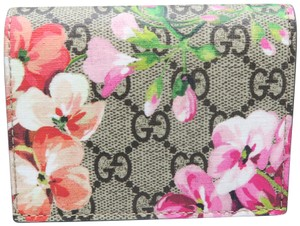 a60addafb296 Gucci Gucci Multicolor Surpreme Gg Blooms Canvas Card Case Wallet
