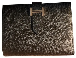 Hermès Hermes Bearn Wallet in Black leather and Gold Hardware