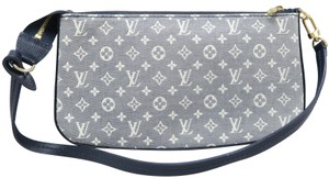 Louis Vuitton Lv Pochette Accessoires Mini Lin Denim Shoulder Bag