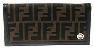 Fendi Tobacco Zucca Canvas Continental Wallet