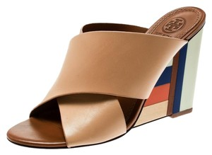 Tory Burch Leather Beige Wedges